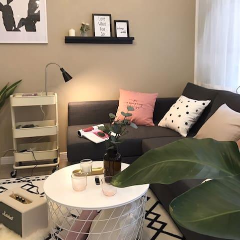 当入住人数超过2人时,客厅的沙发会变成沙发床,同样非常舒适