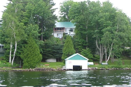 Cottage with magnificient view of Lake Louisa, QC - Wentworth - Faház
