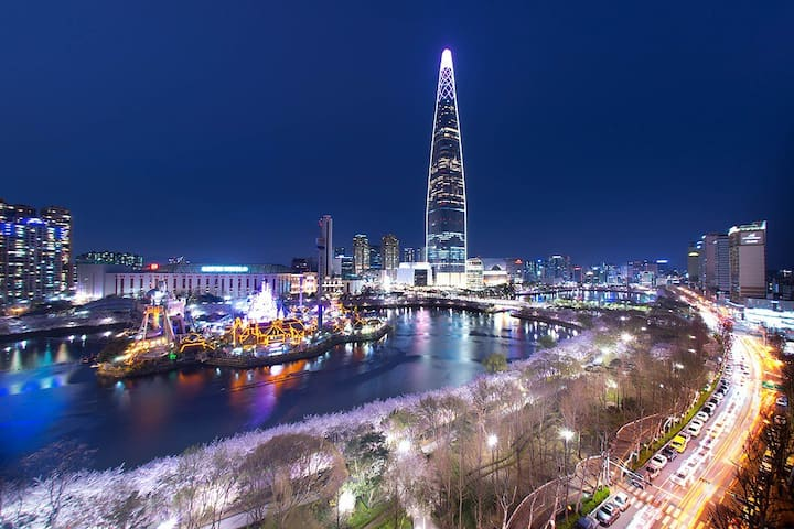 (Amy House) Lotte World &Lake View,Jam Sil Station