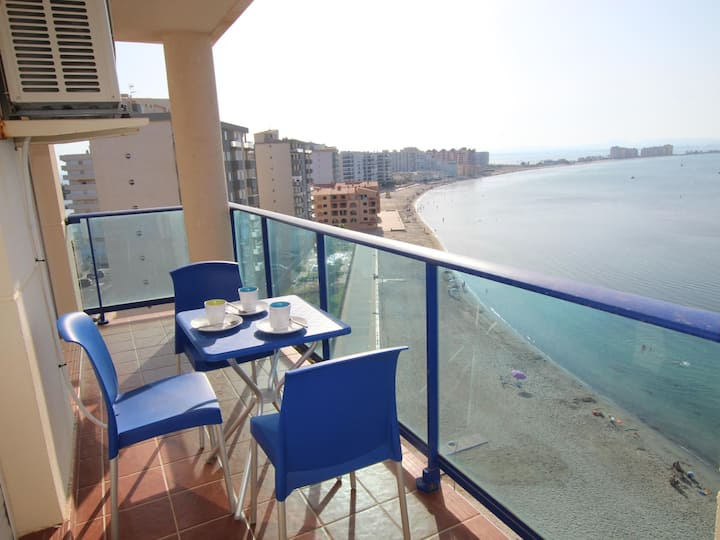 APARTMENT FOR 4 PEOPLE ON THE 1ST LINE OF THE MAR MAYOR, LA MANGA.
