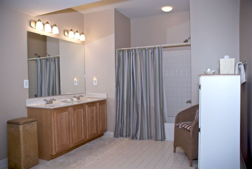 basement bath, aka Locker room