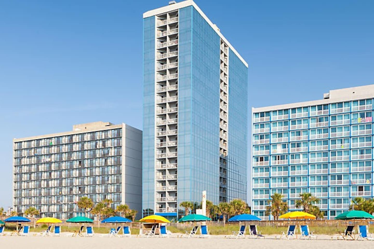 The beach is right in front of SeaGlass Tower!