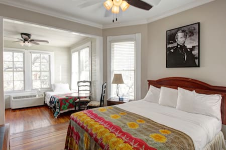 Private spacious guest suite overlooking the Riverwalk
