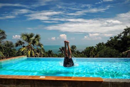 Three-Bed Villa - Ocean View ★★★★★ Free breakfast! - Ko Pha-ngan - Apartmen