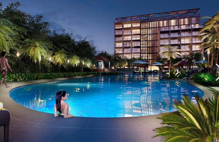 ★ Stylish-Swimming Pool-BBQ, Condominium★ Train