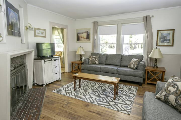 Charming Home w/ Sunroom, Fireplace & Patio - Steps to Downtown Bar Harbor!