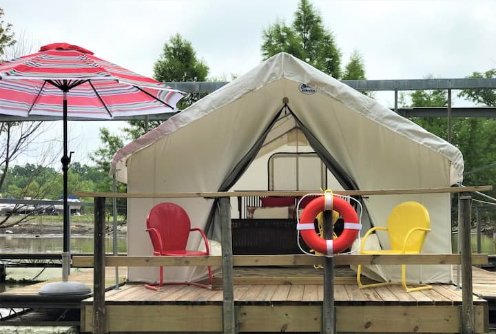Social Distance in a Floating Glamping Tent