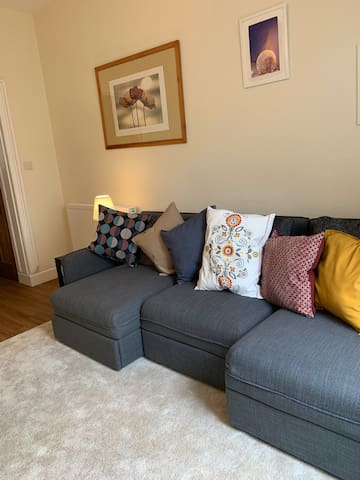 The Lounge: comfy sofa, converts into one or two single sofabeds