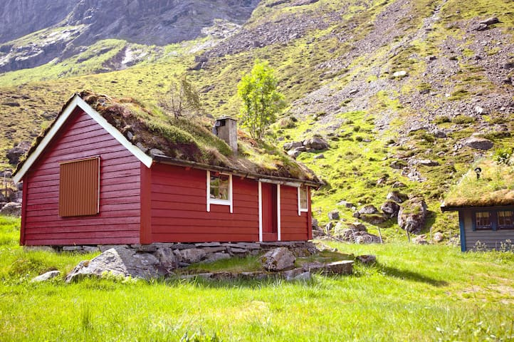 Authentic 100 year old mountain Cabin with goats.