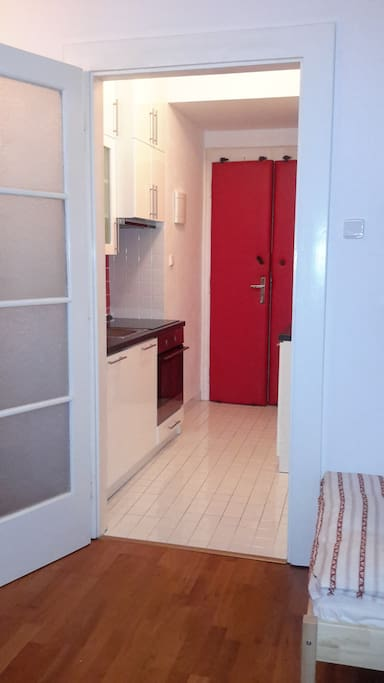 Separate kitchen is located in the corridor ... still a lot of room to make nice dinners
