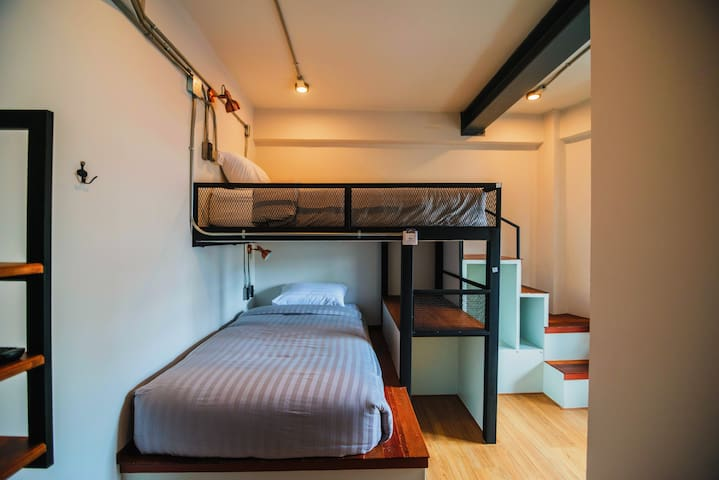 Twin Bunk with Bathroom-city view