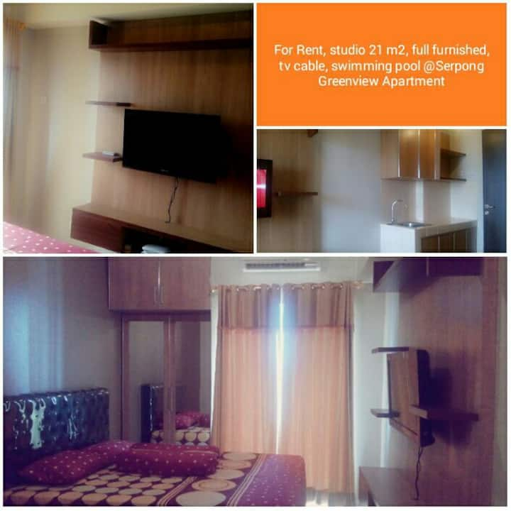 Cozy studio in serpong green view