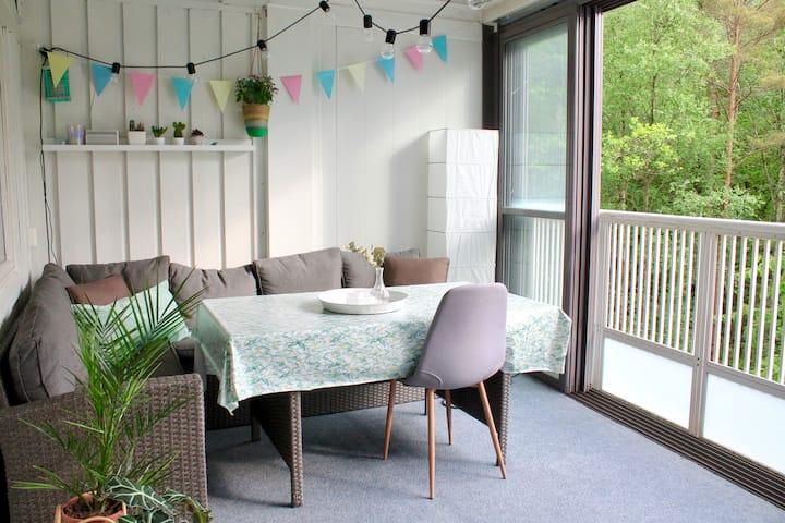 3-roms leilighet i naturskjønne omgivelser