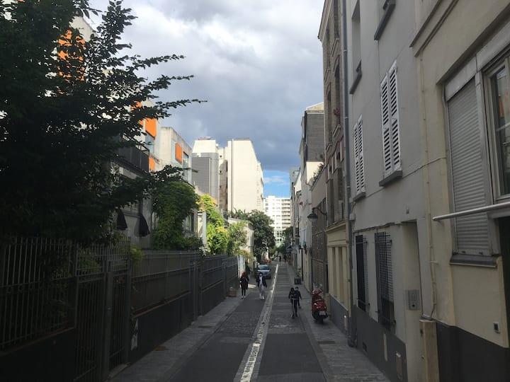Paris : Studio sur rue piétonne