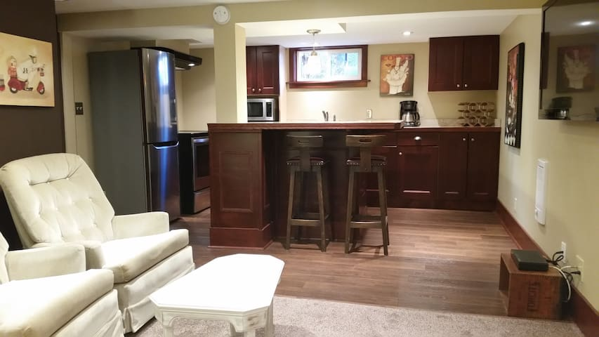 Very large studio with all new furniture and stainless appliances