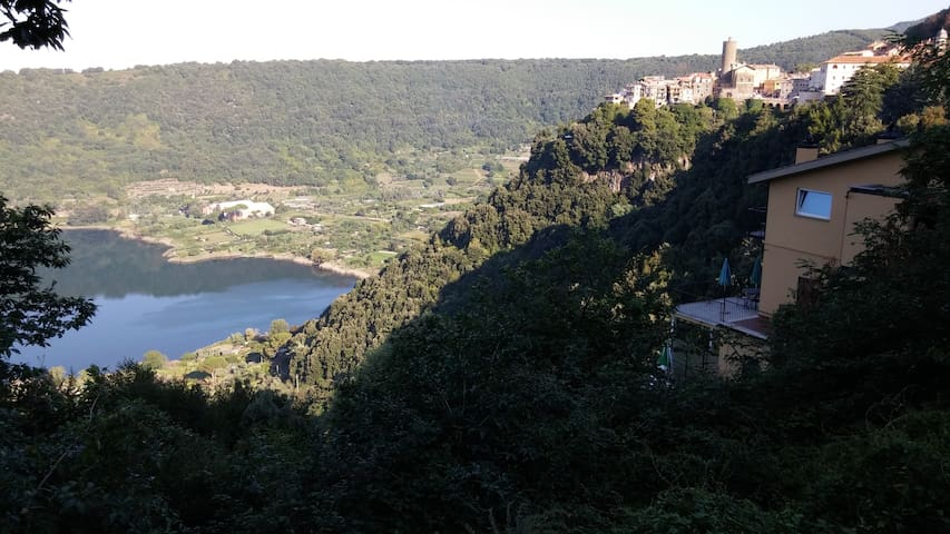 Paradise in Nemi, 30 km from Rome with great view - Nemi - Apartament