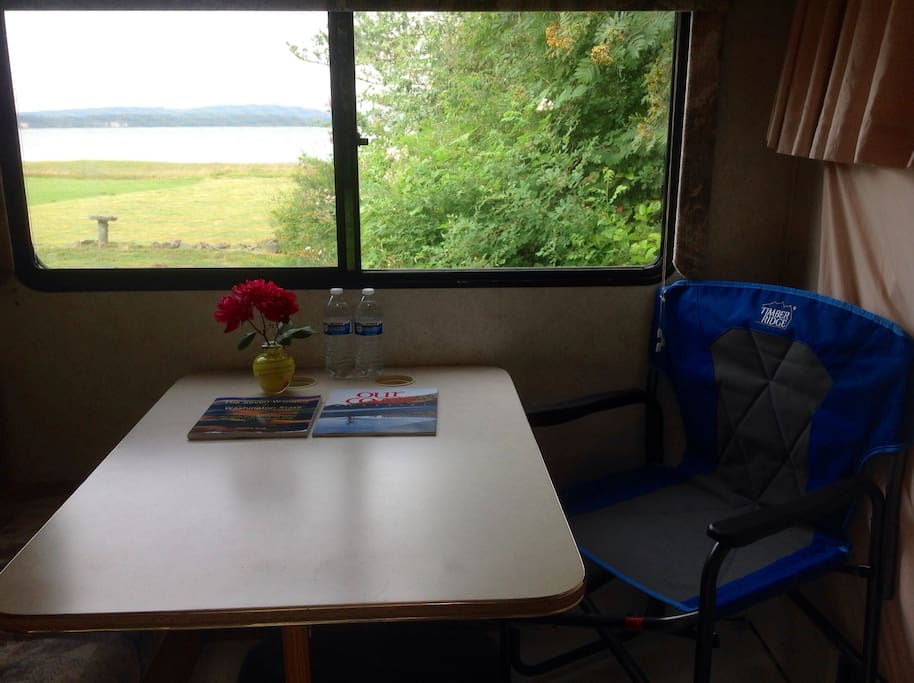 View of Willapa Bay from your dining table