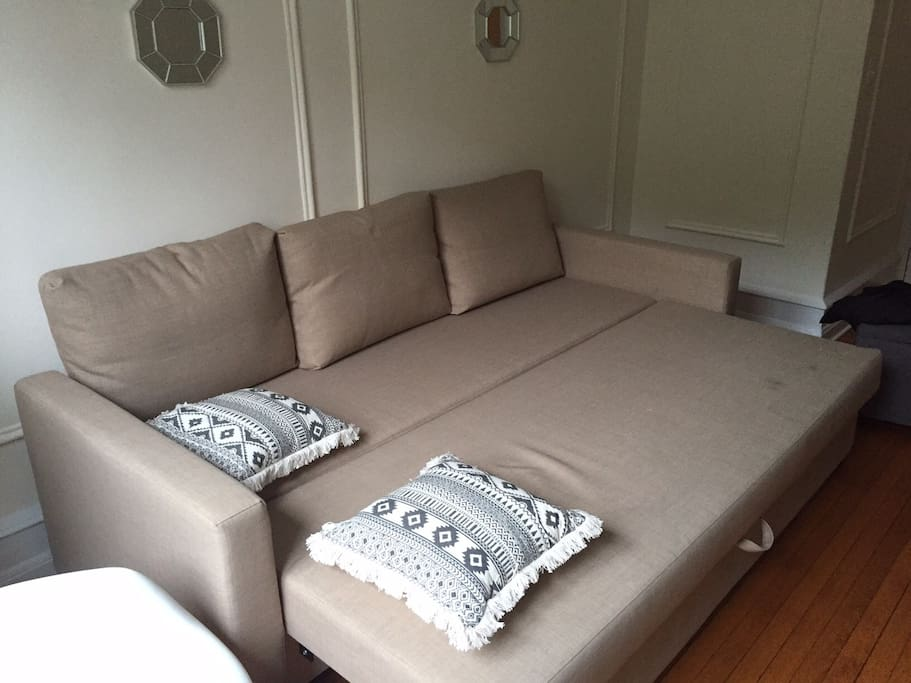 Sofa bed extended for 2 people