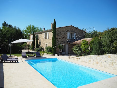 Charming outbuilding - Swimming pool - Clim -2ha trees