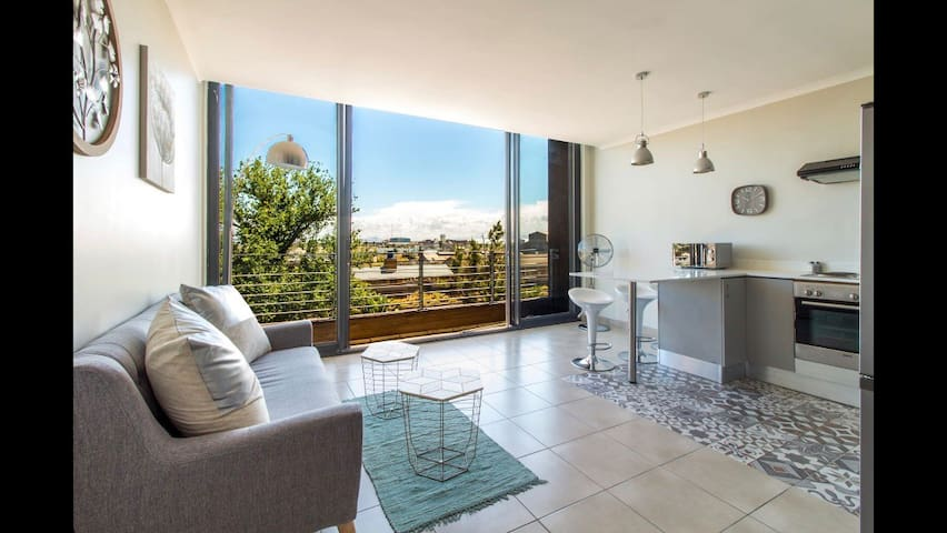 Modern flat with rooftop pool in arty Woodstock