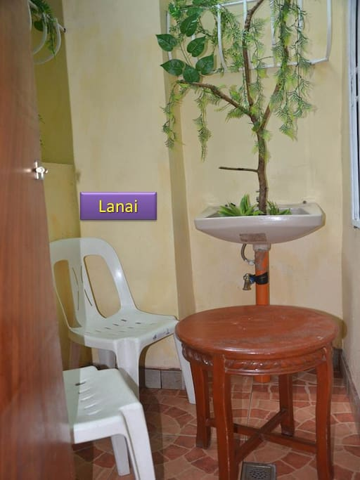 This Lanai area is for the exclusive use of Room #3 occupants.