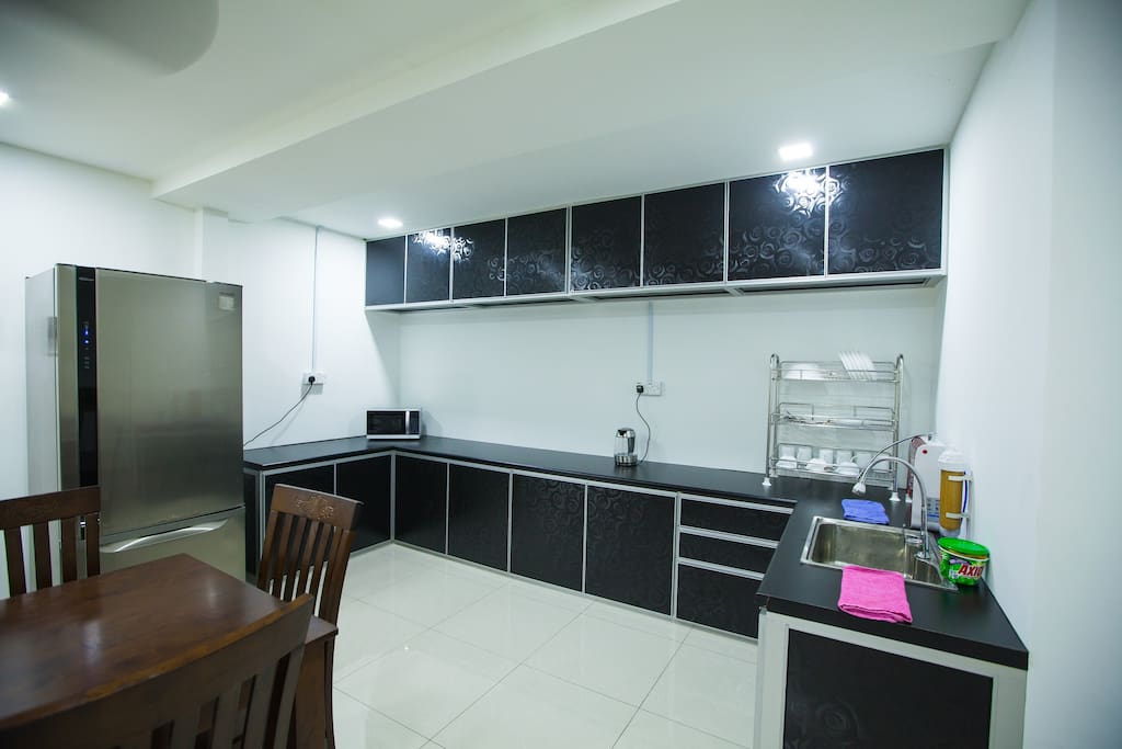 Kitchen for customer to cook