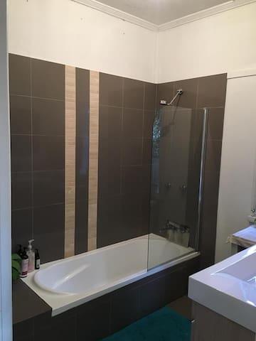 Shared bathroom inside house