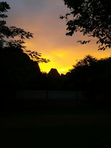 Typical sunset from house