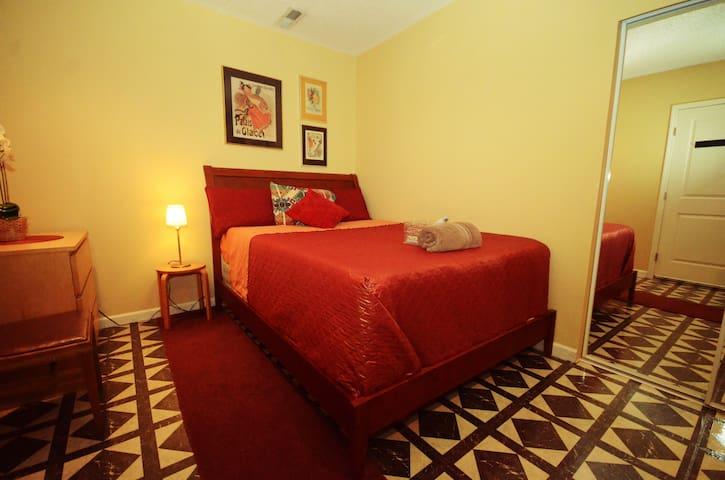 Cozy Red Brick Room #3
