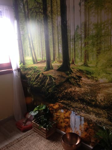 Forest mural...peaceful.
