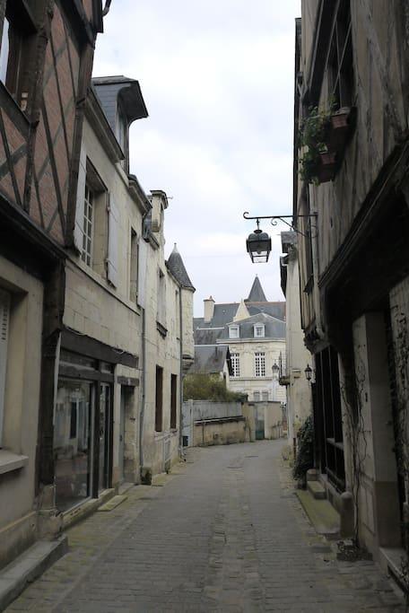 Dans le quartier historique