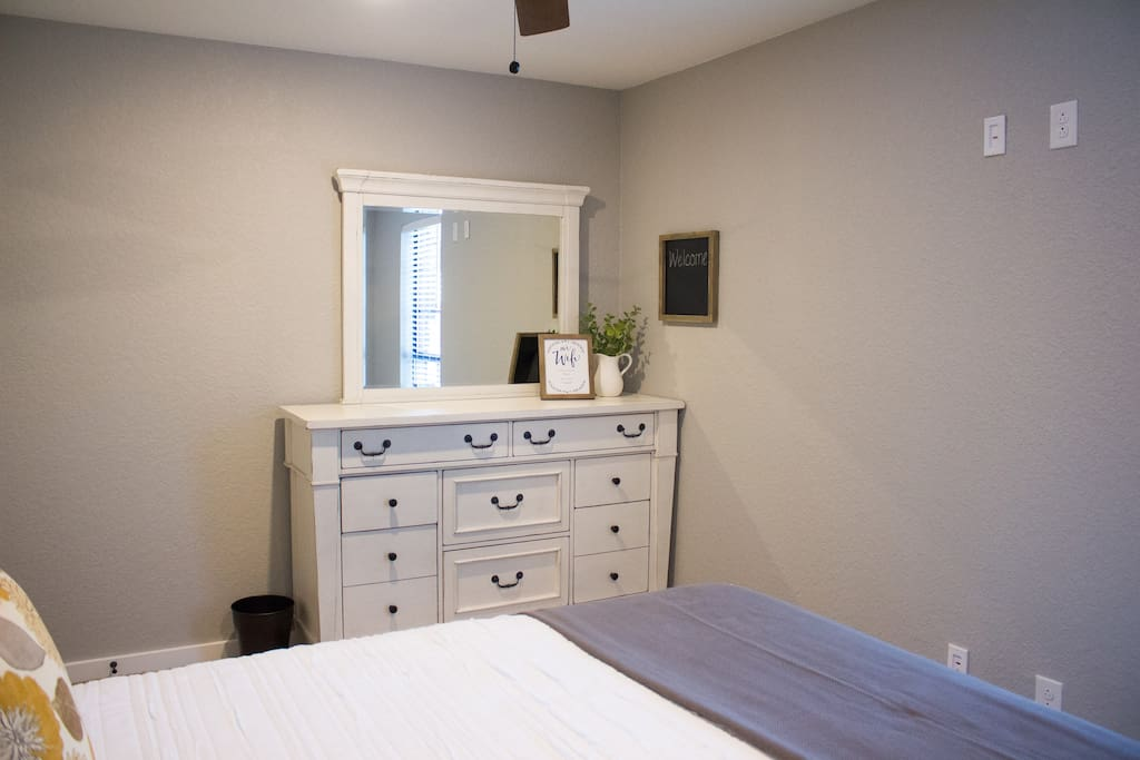 Planning an extended stay? There's plenty of dresser space.