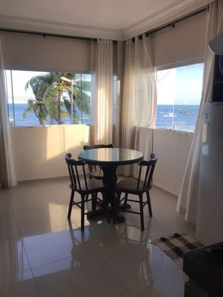 Apartamento Suíte a beira mar com Vista Exuberante
