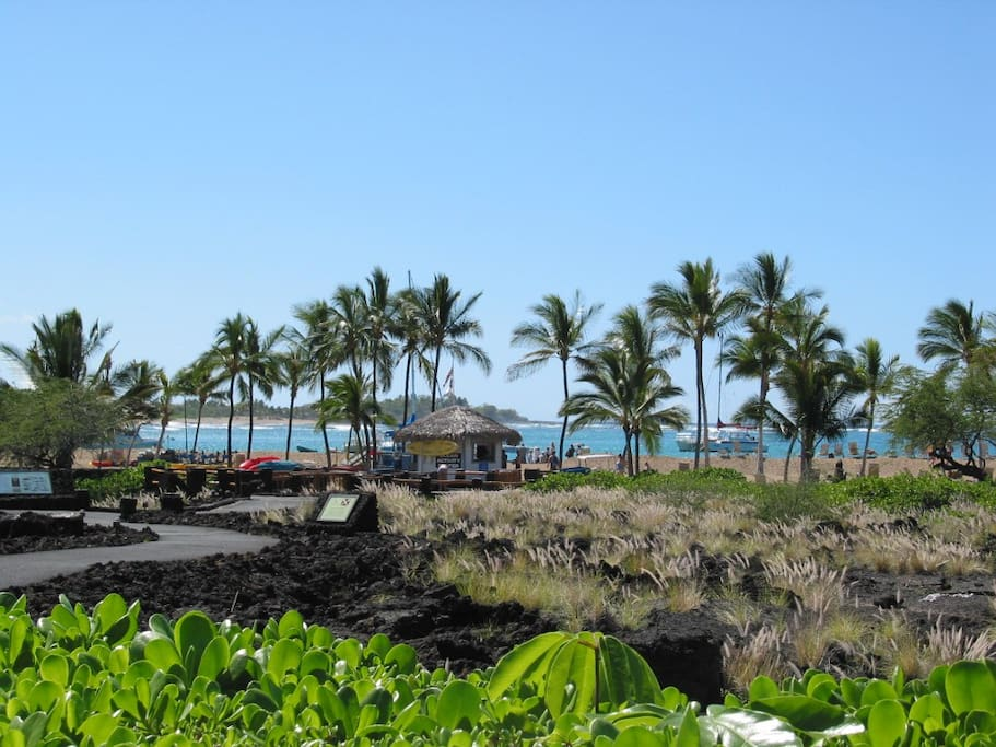 Walk to the beautiful Aneho'omalu Bay