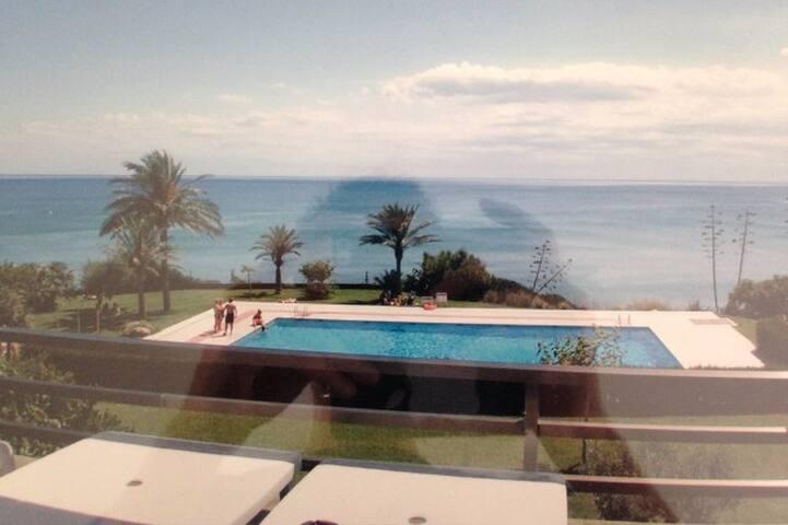 Appartement 75m² vue 180° sur mer et piscine - Miami Platja - Leilighet