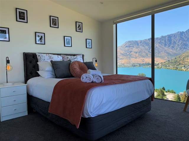 Bedroom 1 with breathtaking lake views