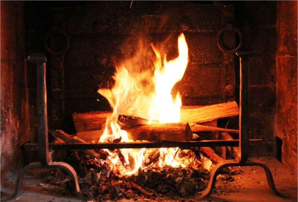 Grande cheminée dans le Grand Lodge : reposez-vous !