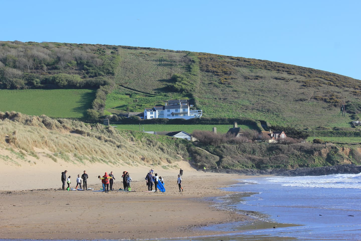 Heatherdown House & Heatherdown Chalet overlooking Croyde Beach, set within 6 acres of private land.