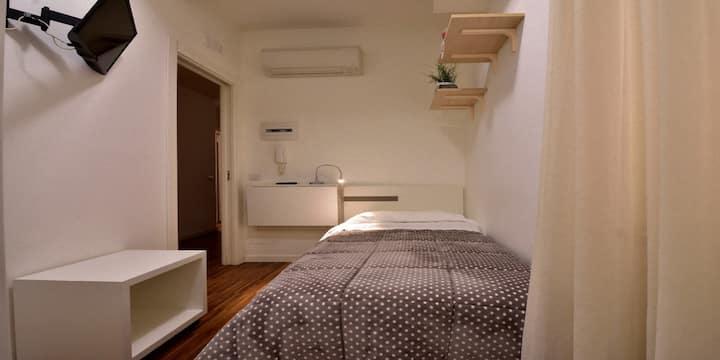 Singola-Economica-Bagno in camera con doccia