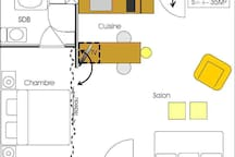 Large studio near Walibi, LLN, Wavre, E411...