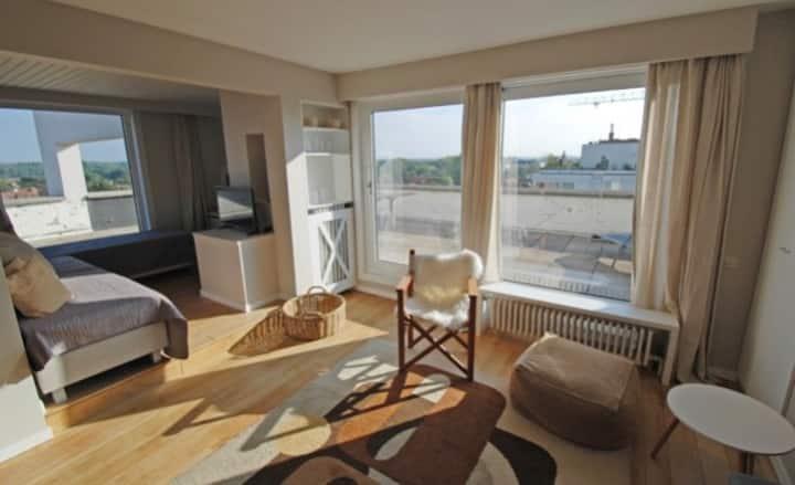 Knokke studio61 grande terrasse et superbe vue