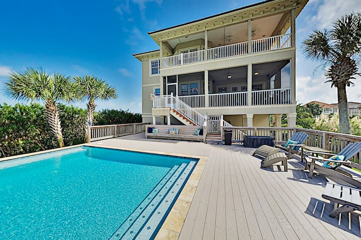 Laguna Key Water-View Home with Pool, Near Beach!