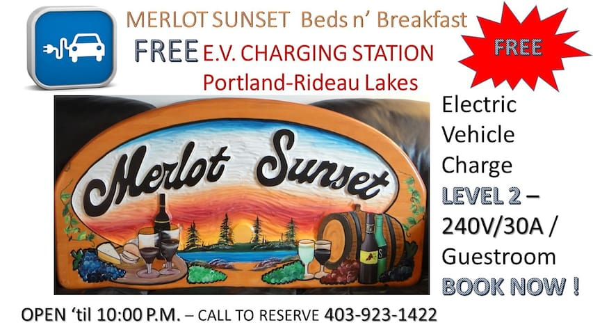 MERLOT SUNSET -FREE Electric Vehicle Chrg Station