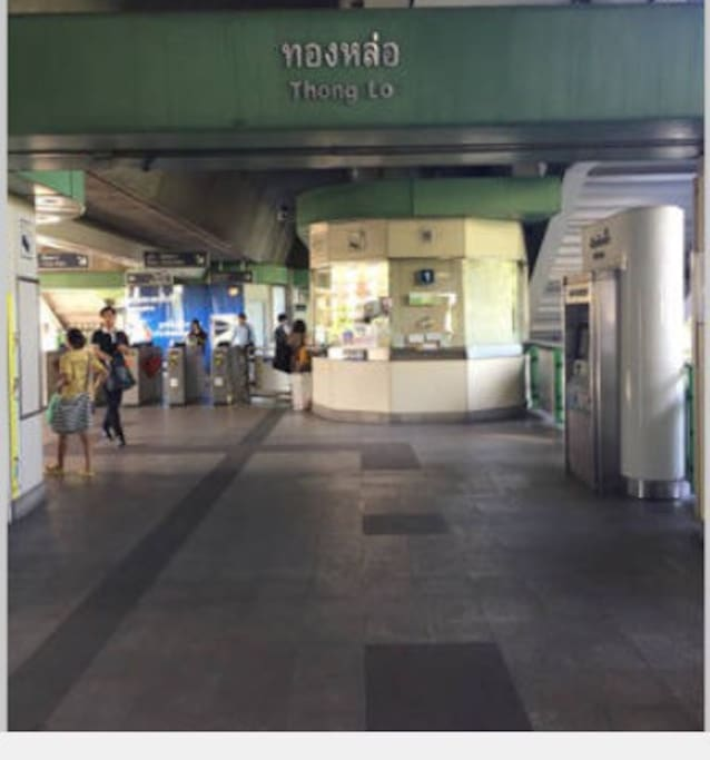 Thonglor BTS station is where to get in/off.