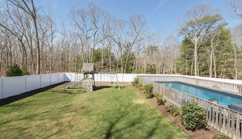Privacy fence, backyard, and HEATED pool!