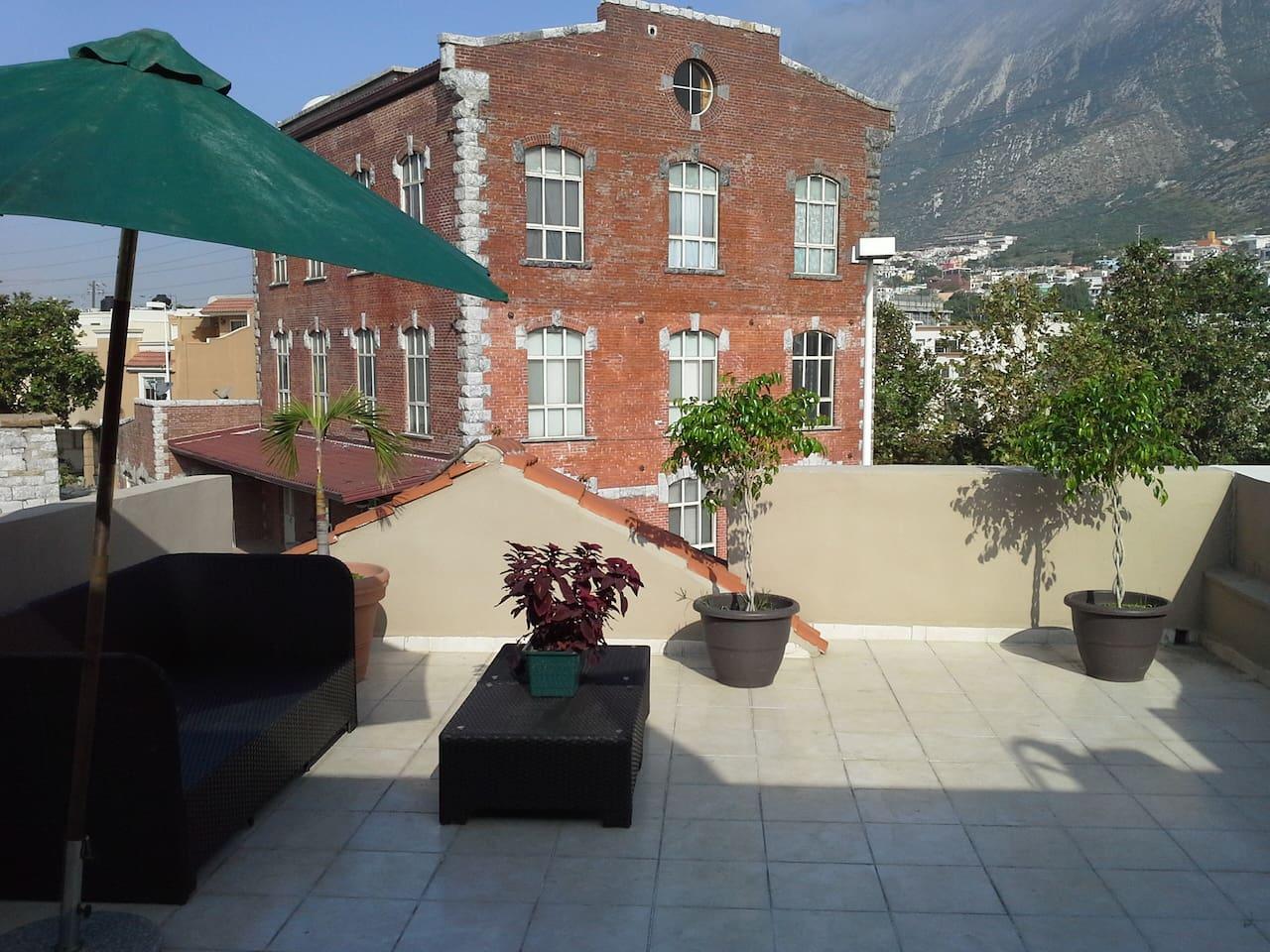 Esta es la vista desde la terraza