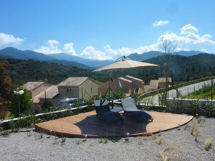 Apartment with 2 bedrooms in Morosaglia, with wonderful mountain view, enclosed garden and WiFi