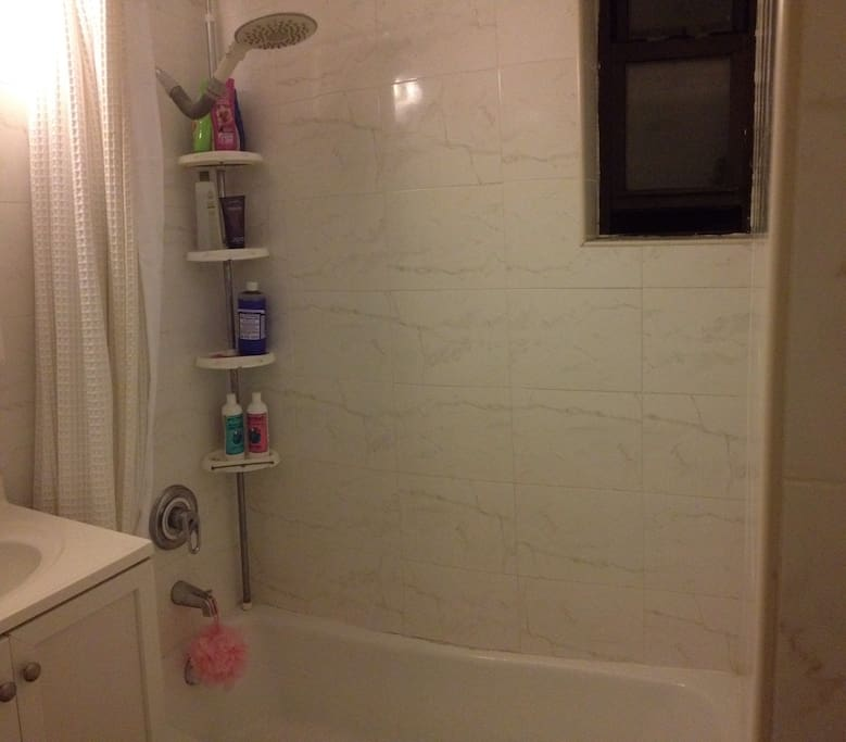 A nice big shower awaits you after your long travel or day in the city.