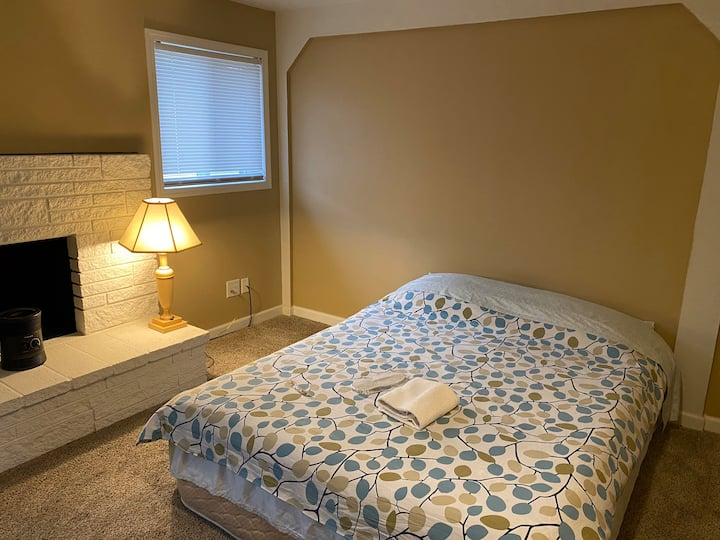 Simple bedroom in lovely home