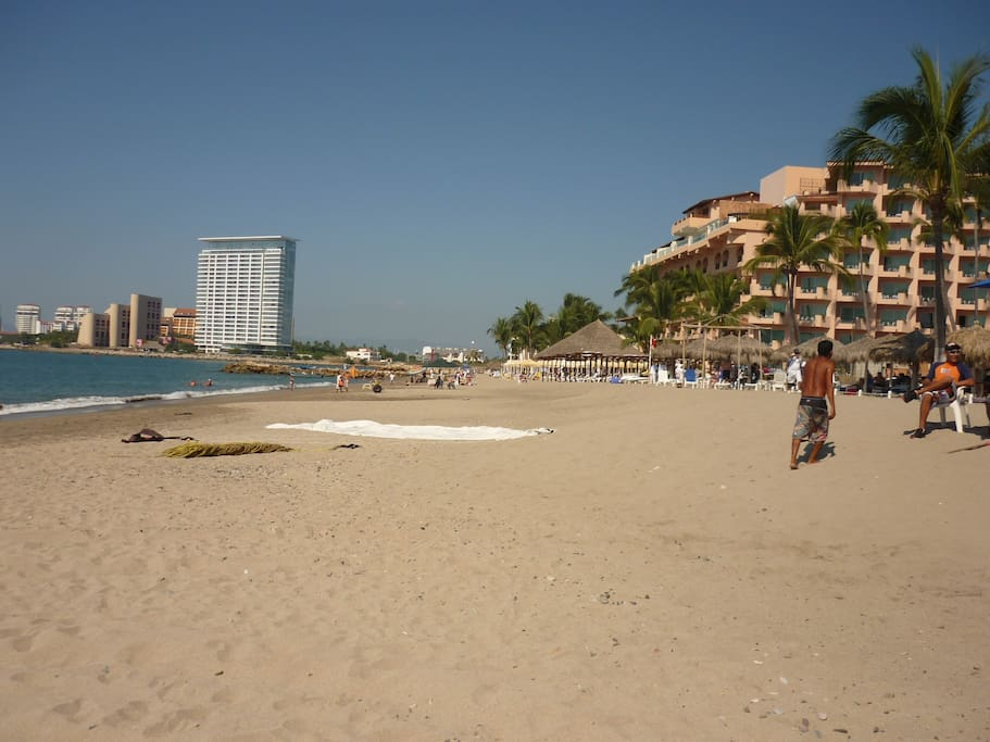 Playa de Oro, or Gold Beach, a minute walk away!